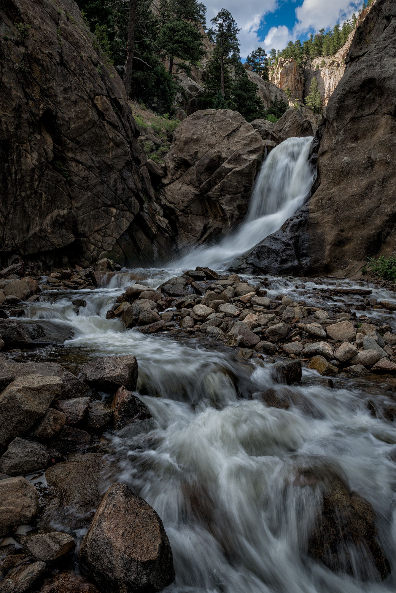 Boulder Falls, #1. Boulder Canyon, Colorado, 2016
