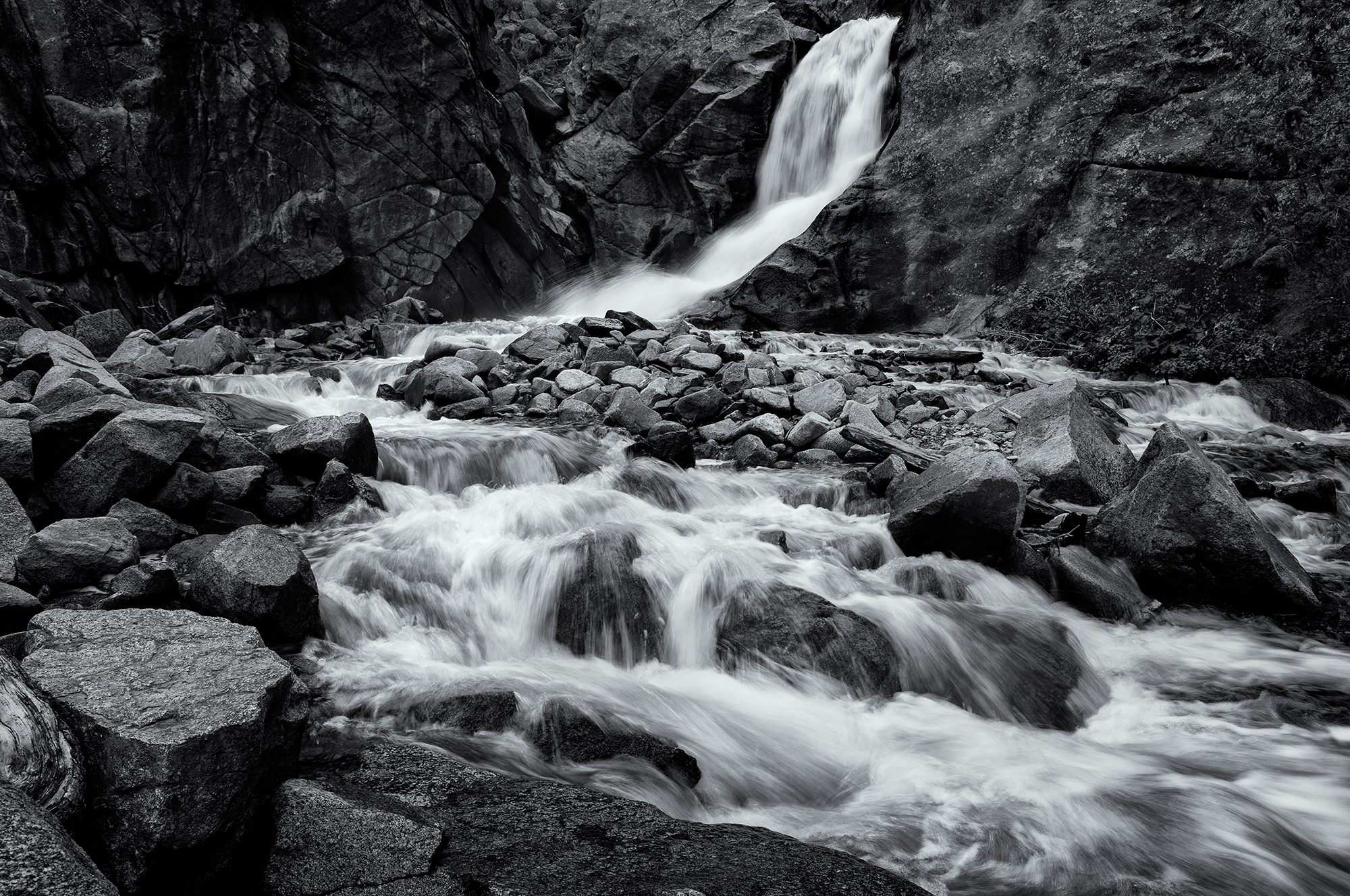 Boulder Falls, #2. Boulder Canyon, Colorado, 2016