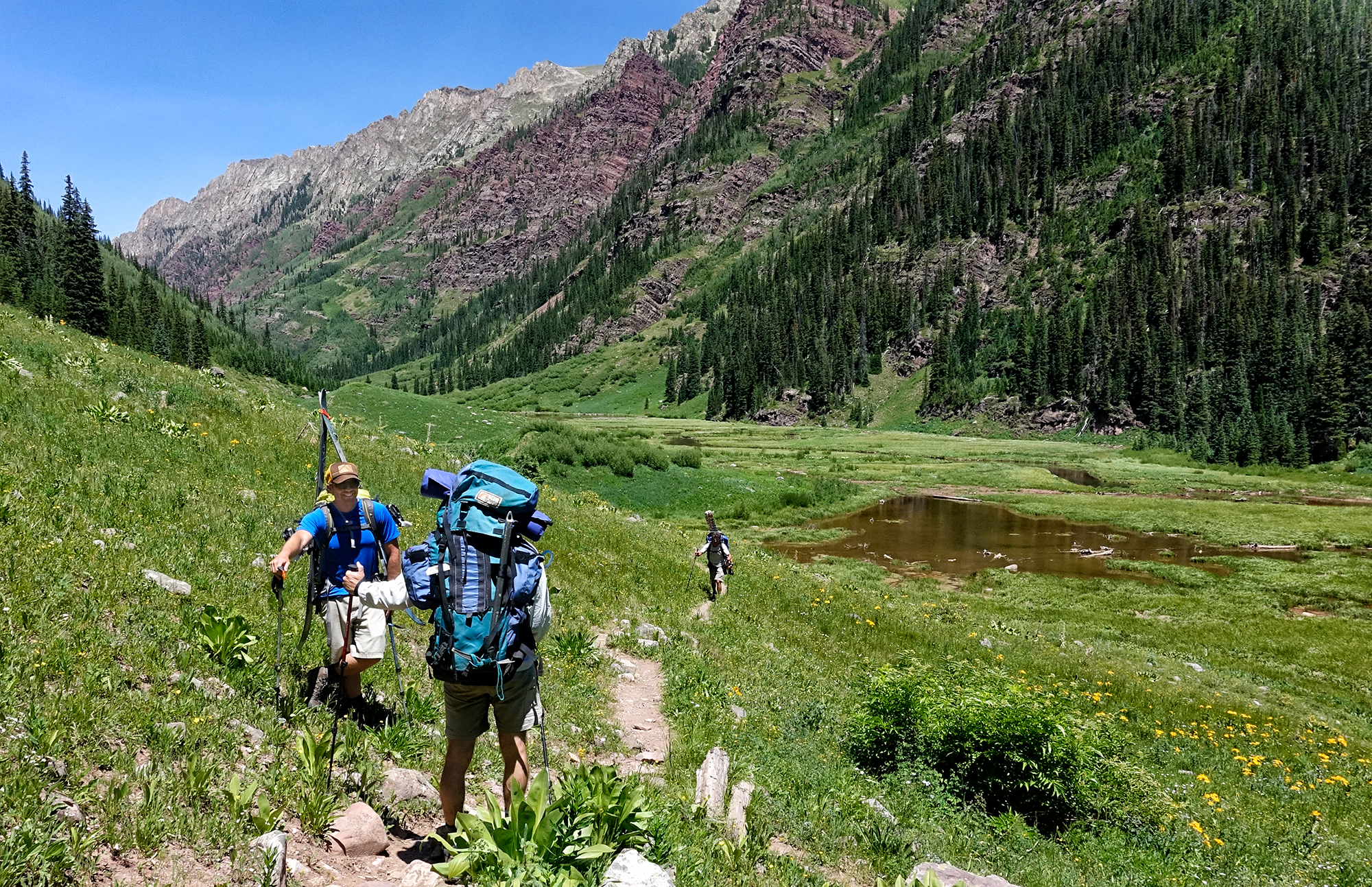 Searching for Turns  Snowmass Creek Trail, Colorado, 2016 – The