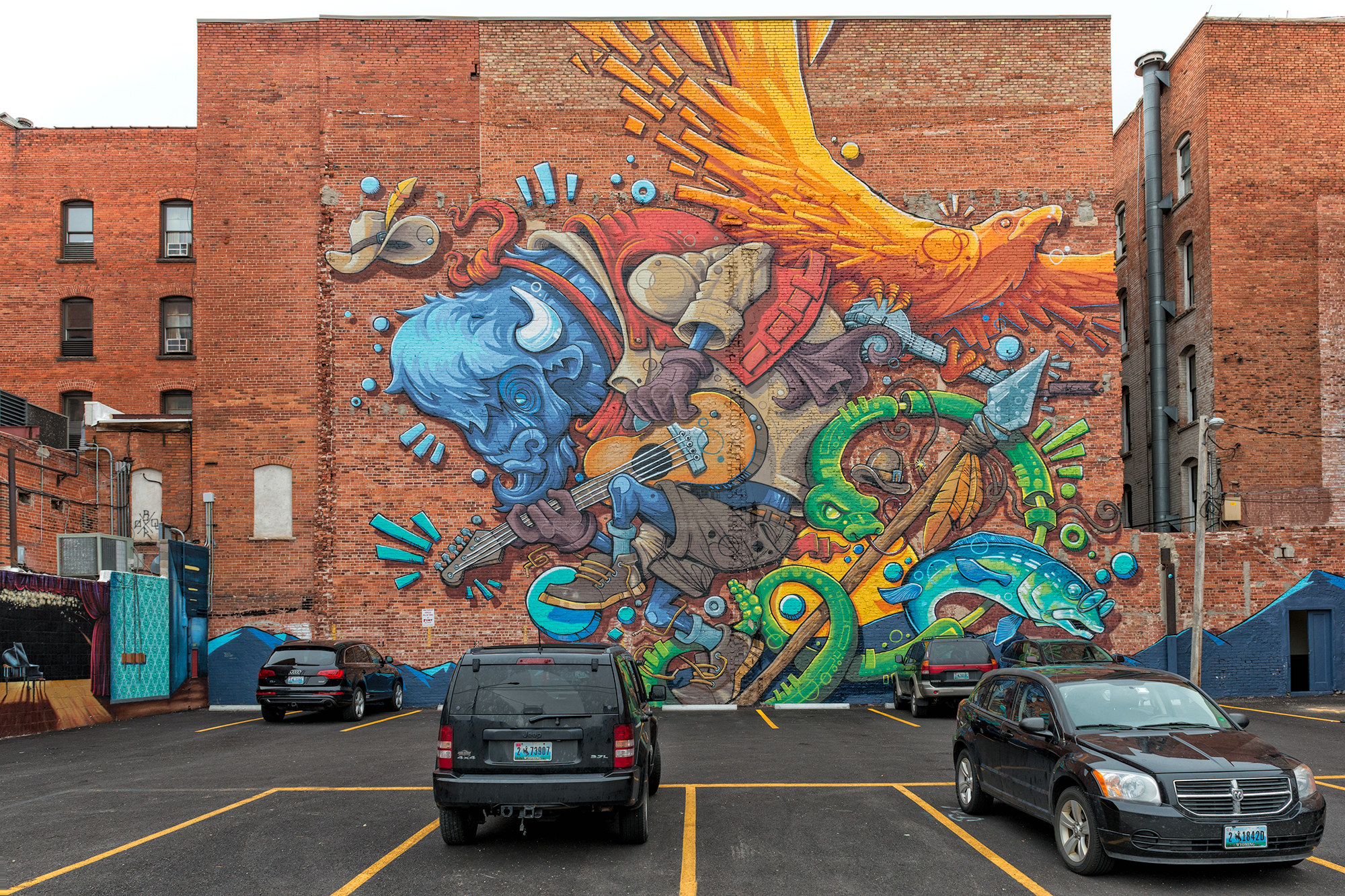 The Buffalo Mural. Cheyenne, Wyoming, 2016