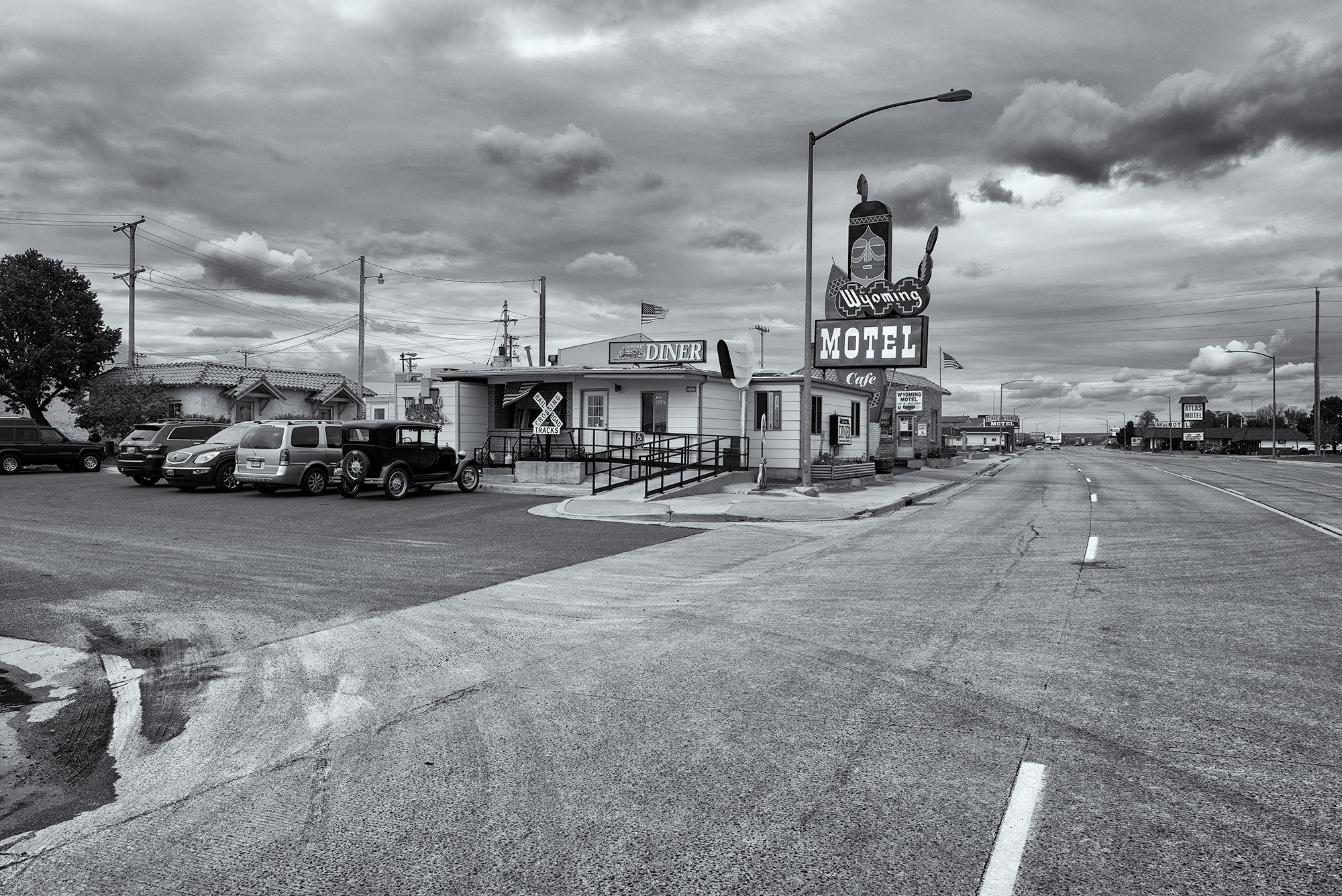 Wyoming Motel and Cafe. Cheyenne, Wyoming, 2016