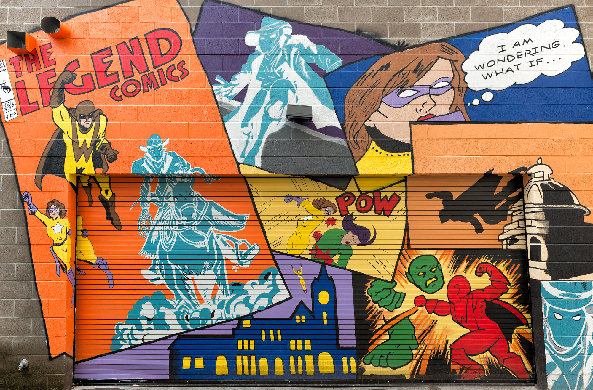 Legend Comics Mural. Cheyenne, Wyoming, 2016