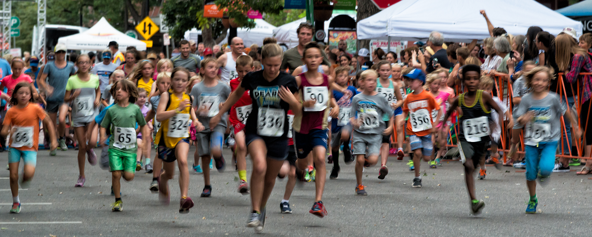 The Kids Race, Pearl Street Mile. Boulder, Colorado, 2016