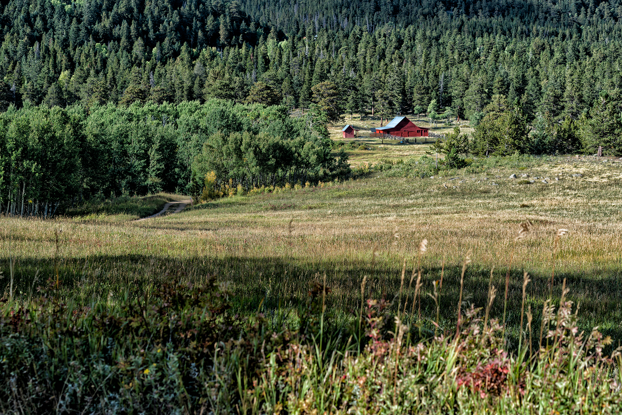 Red Barn View. Caribou Ranch Open Space, Colorado, 2016