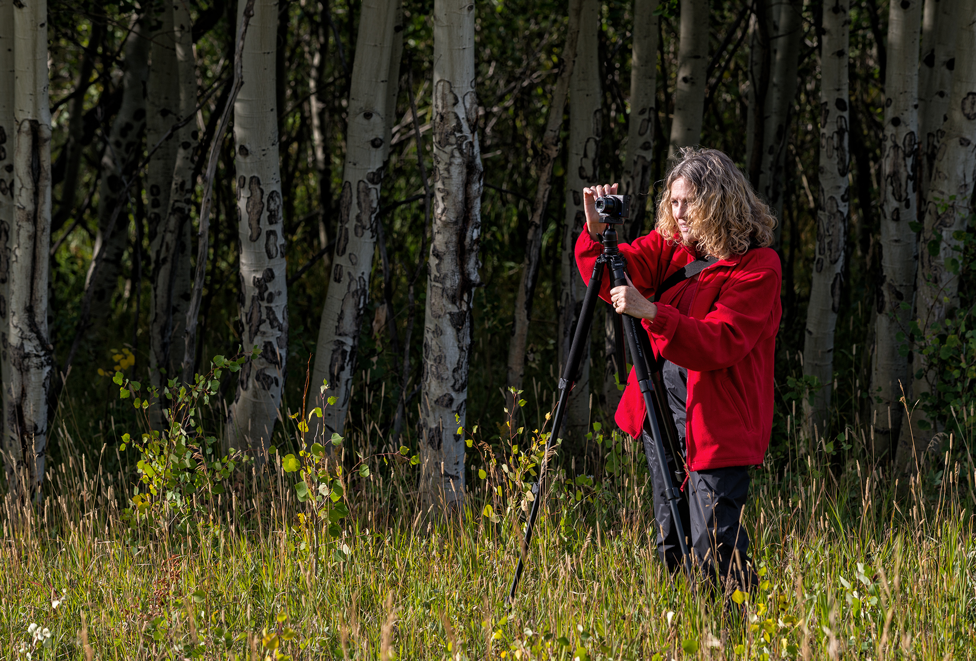 The Photographer in Red. Caribou Ranch Open Space, Colorado, 2016