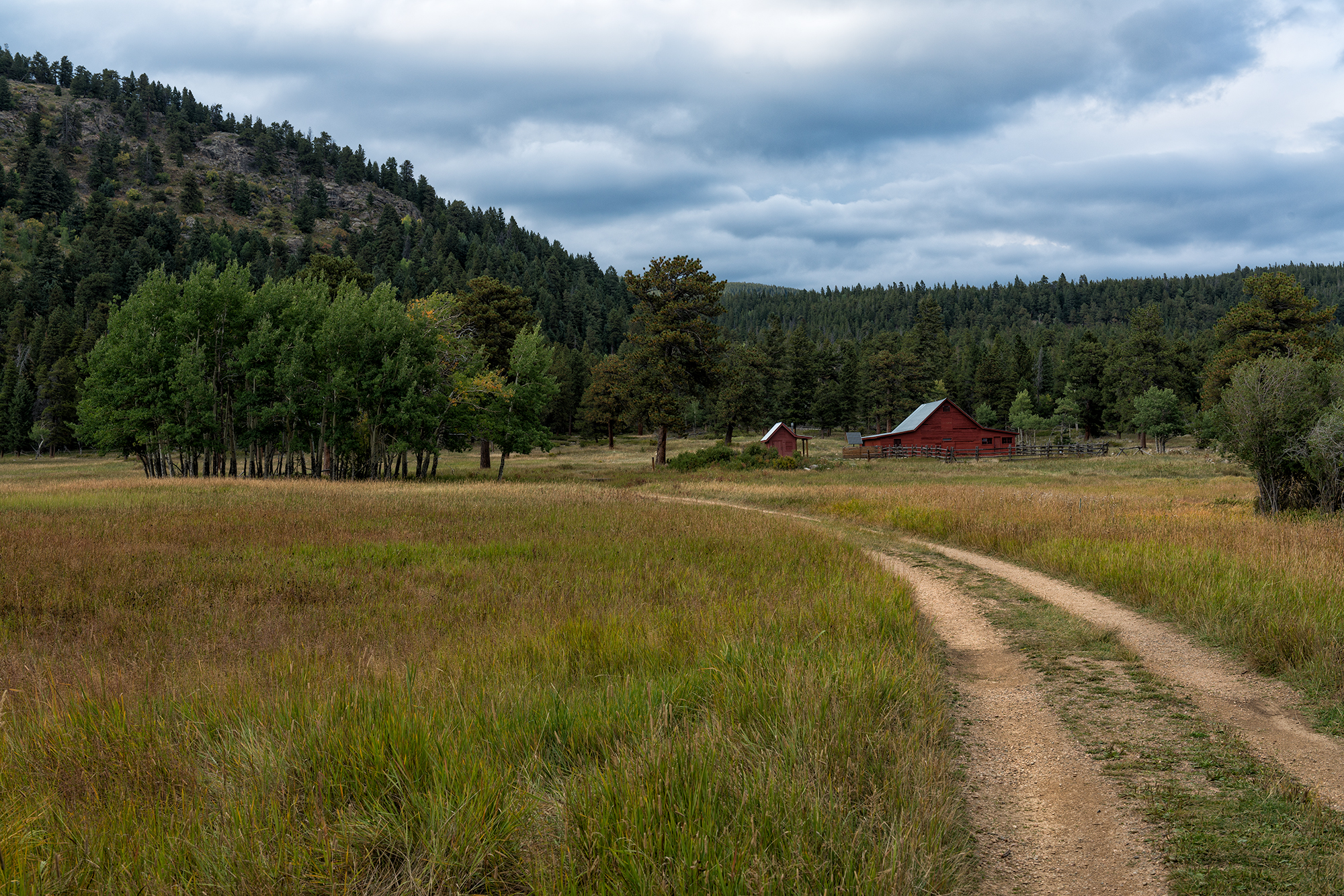 Autumn Approaches at the Red Cabin. Caribou Ranch Open Space, Colorado, 2016