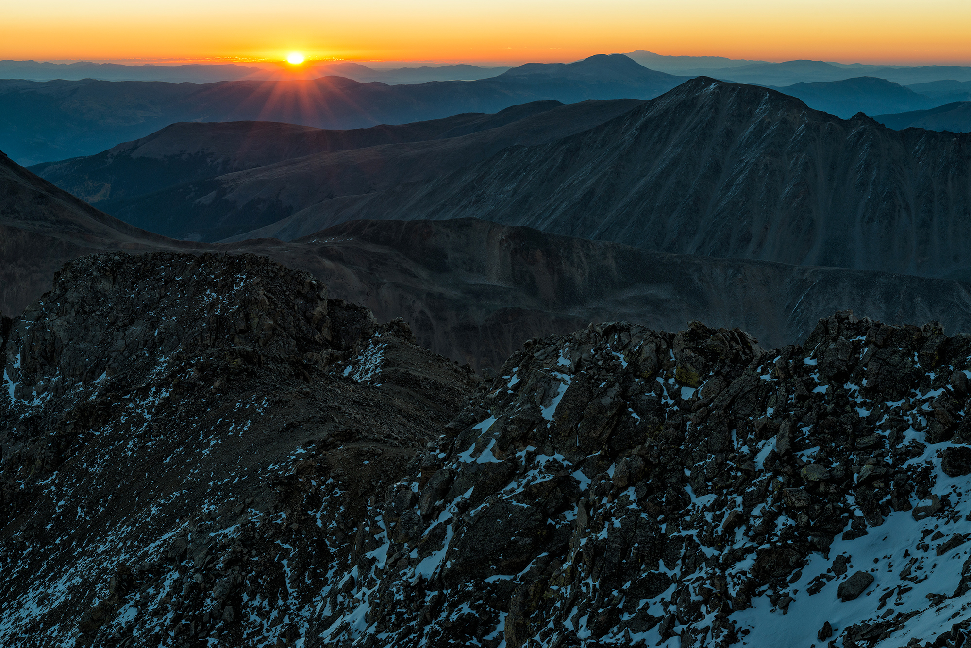 Sunrise. La Plata Peak, Colorado, 2016