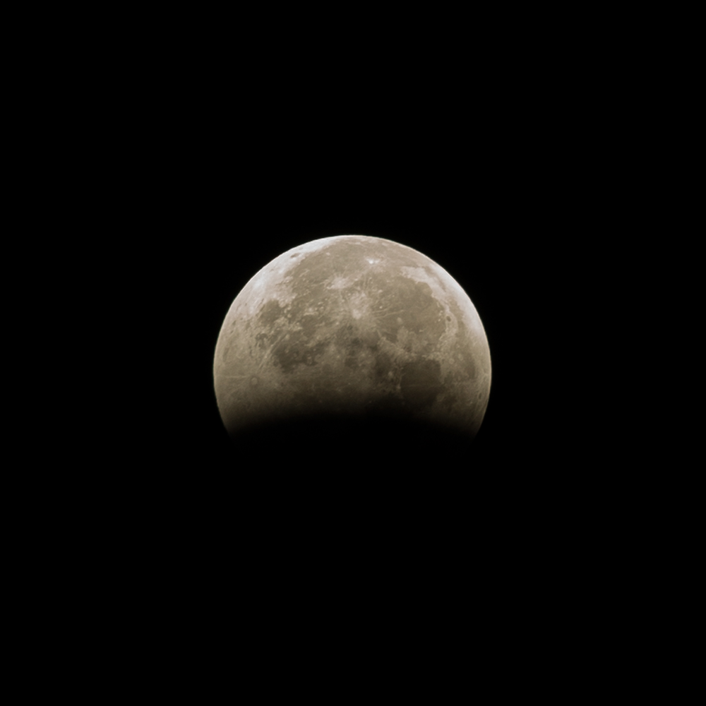 Lunar Eclipse on 10/09/14. Yellowstone National Park, Wyoming, 2014