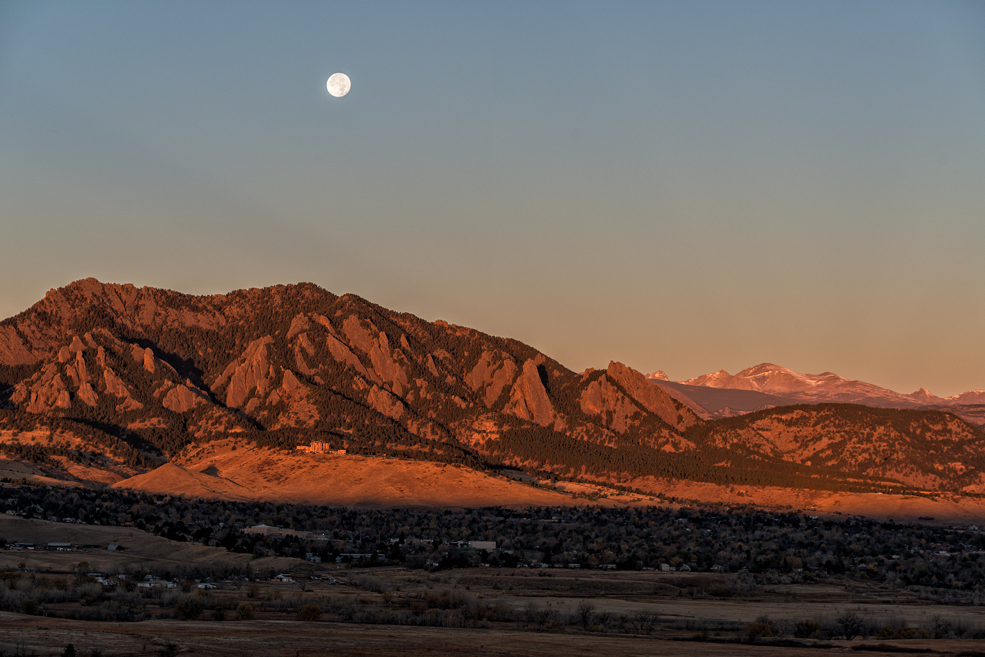 Moon Over Boulder, #1. Above Cherryvale Road, Boulder, Colorado, 2016