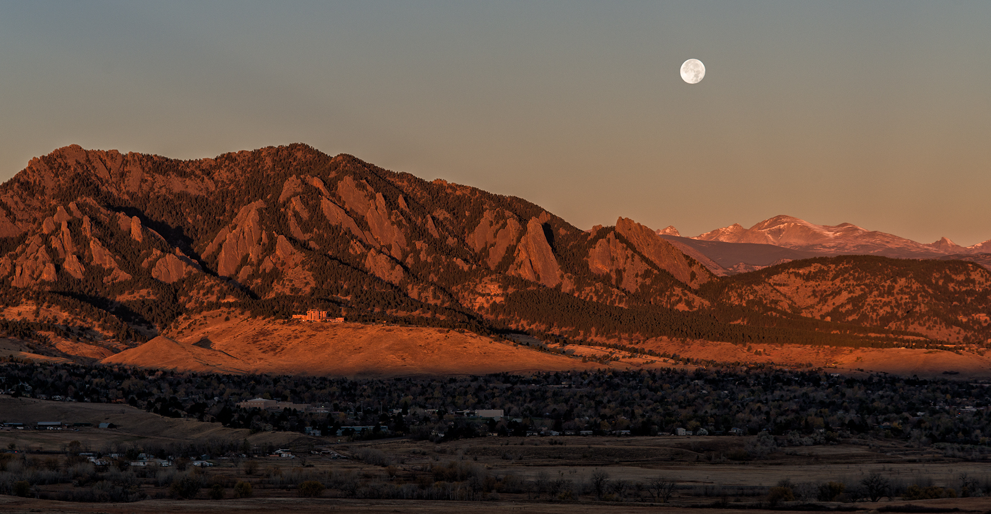 Moon Over Boulder, #2. Above Cherryvale Road, Boulder, Colorado, 2016