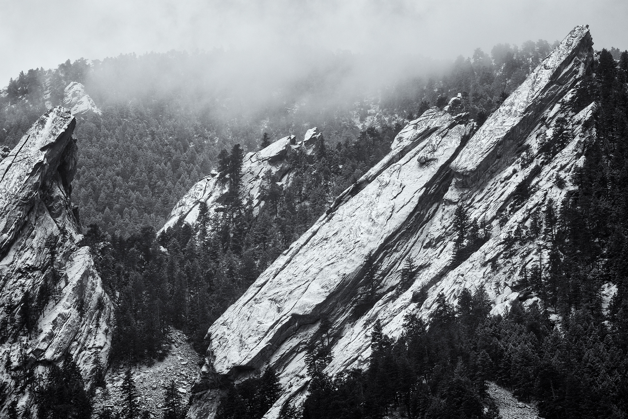 Second Flatiron, Winter Snow. Boulder, Colorado, 2016