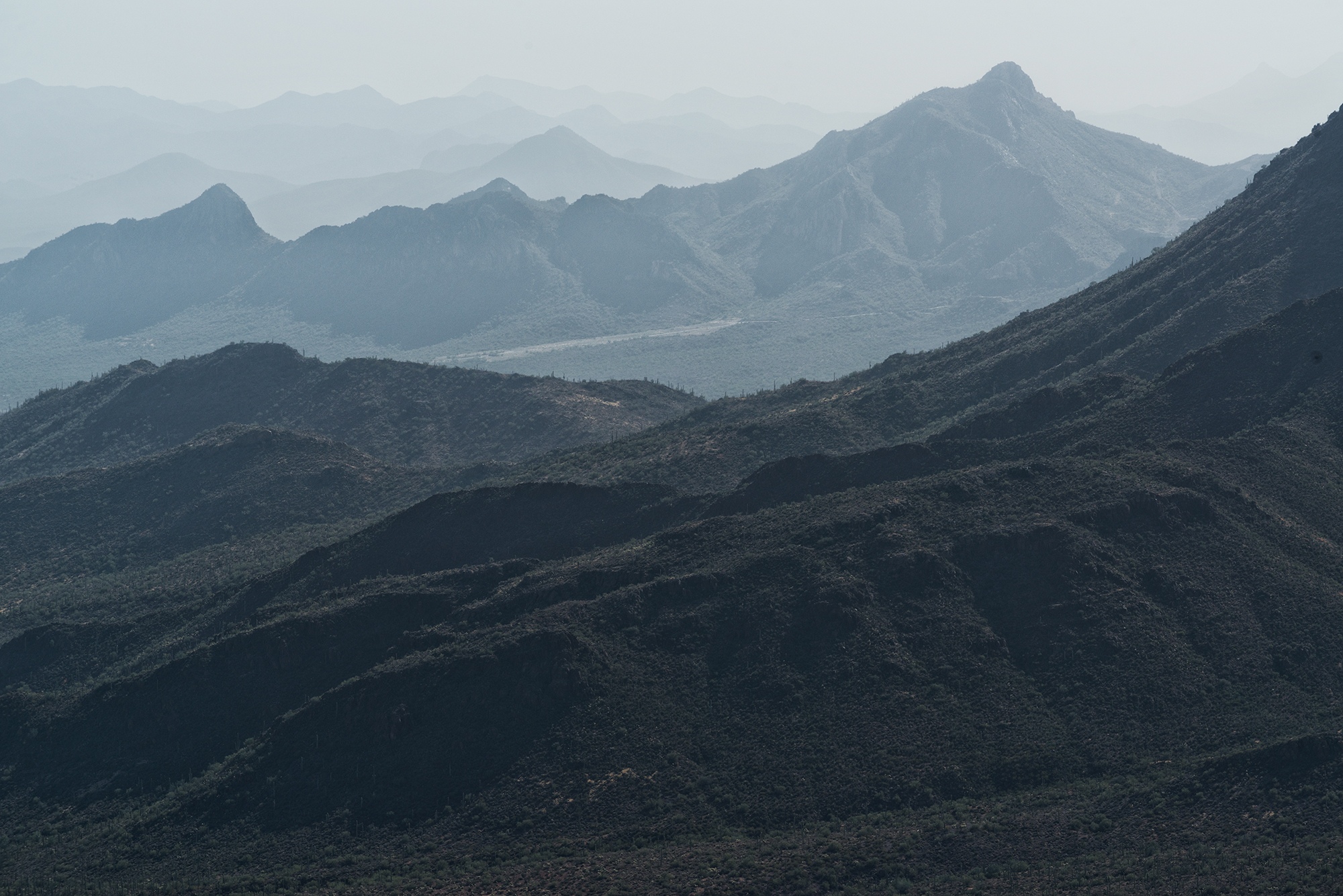 Hazy Horizons. From Ragged Top summit, Arizona, 2016