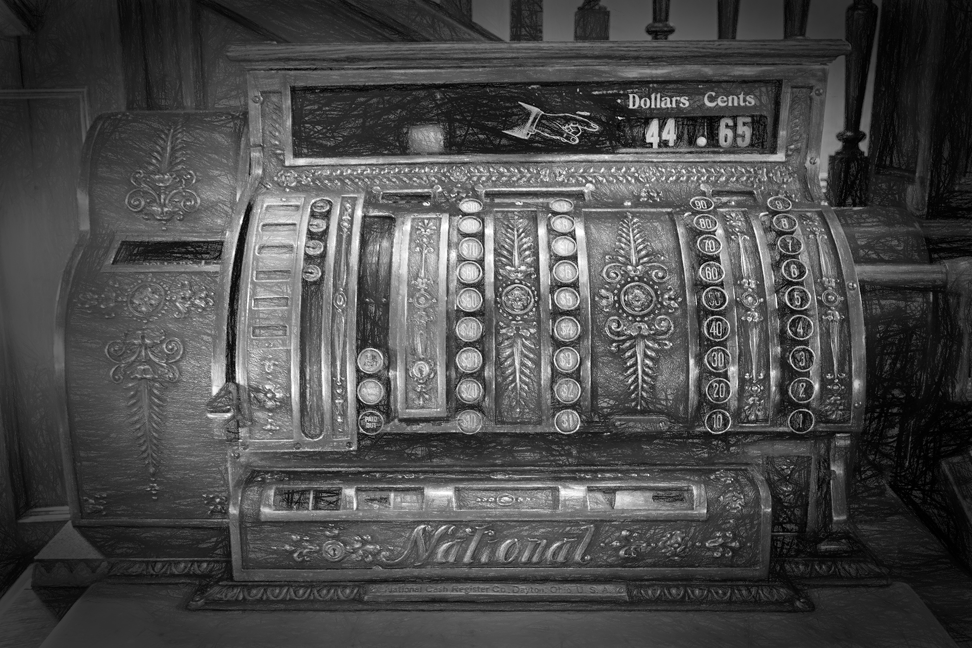 Cash Register. Hotel Boulderado, Boulder, Colorado, 2016
