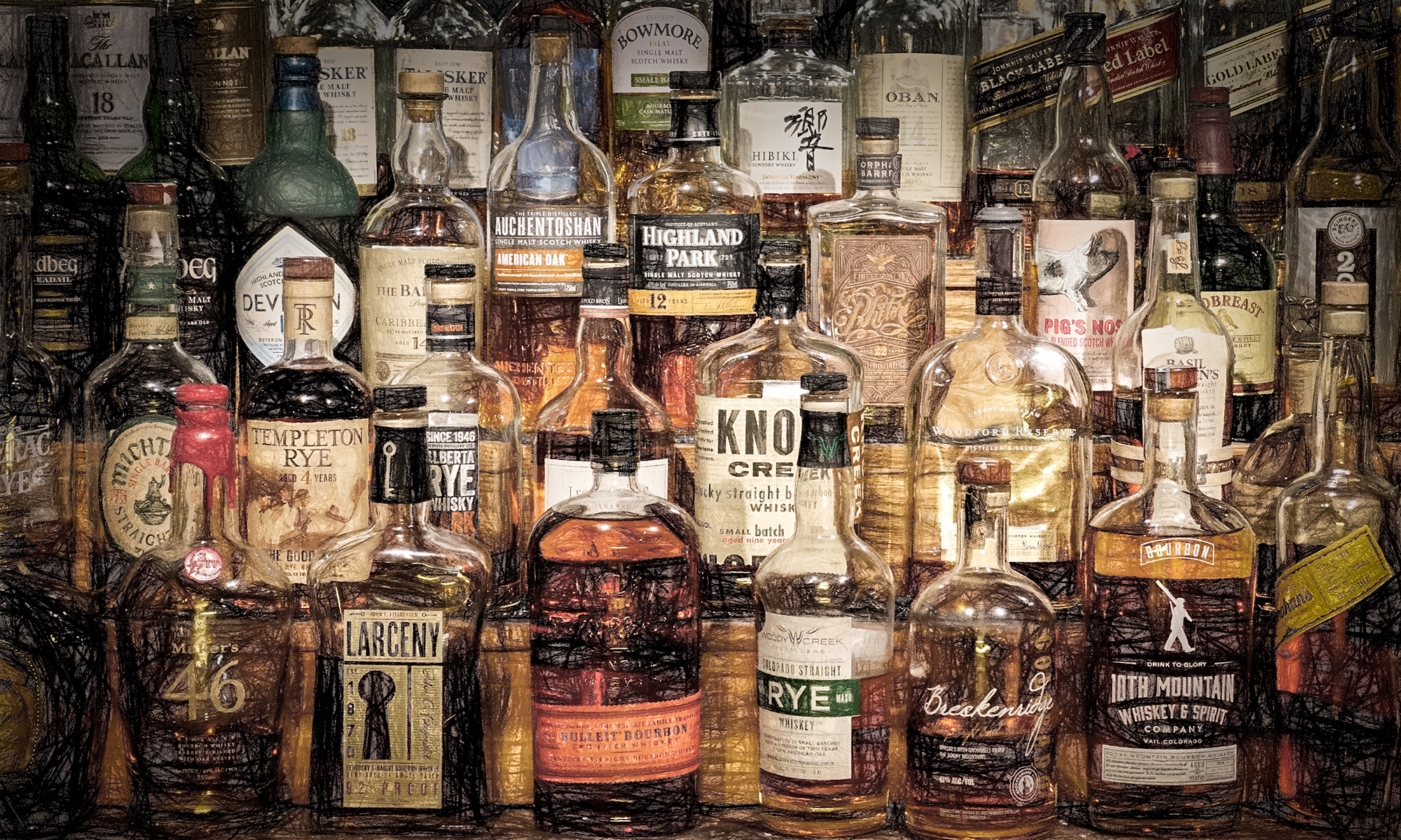 The Liquor Cabinet. Hotel Boulderado, Boulder, Colorado, 2016