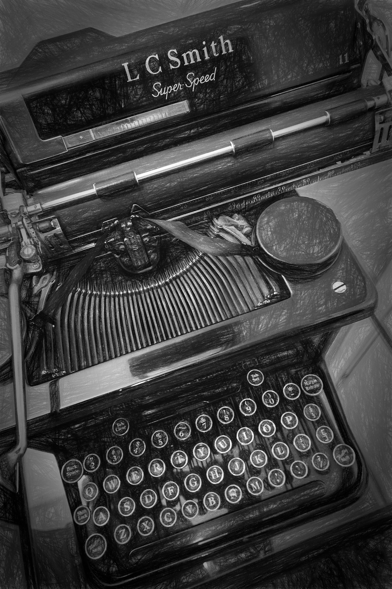 Writing Machine. Hotel Boulderado, Boulder, Colorado, 2016