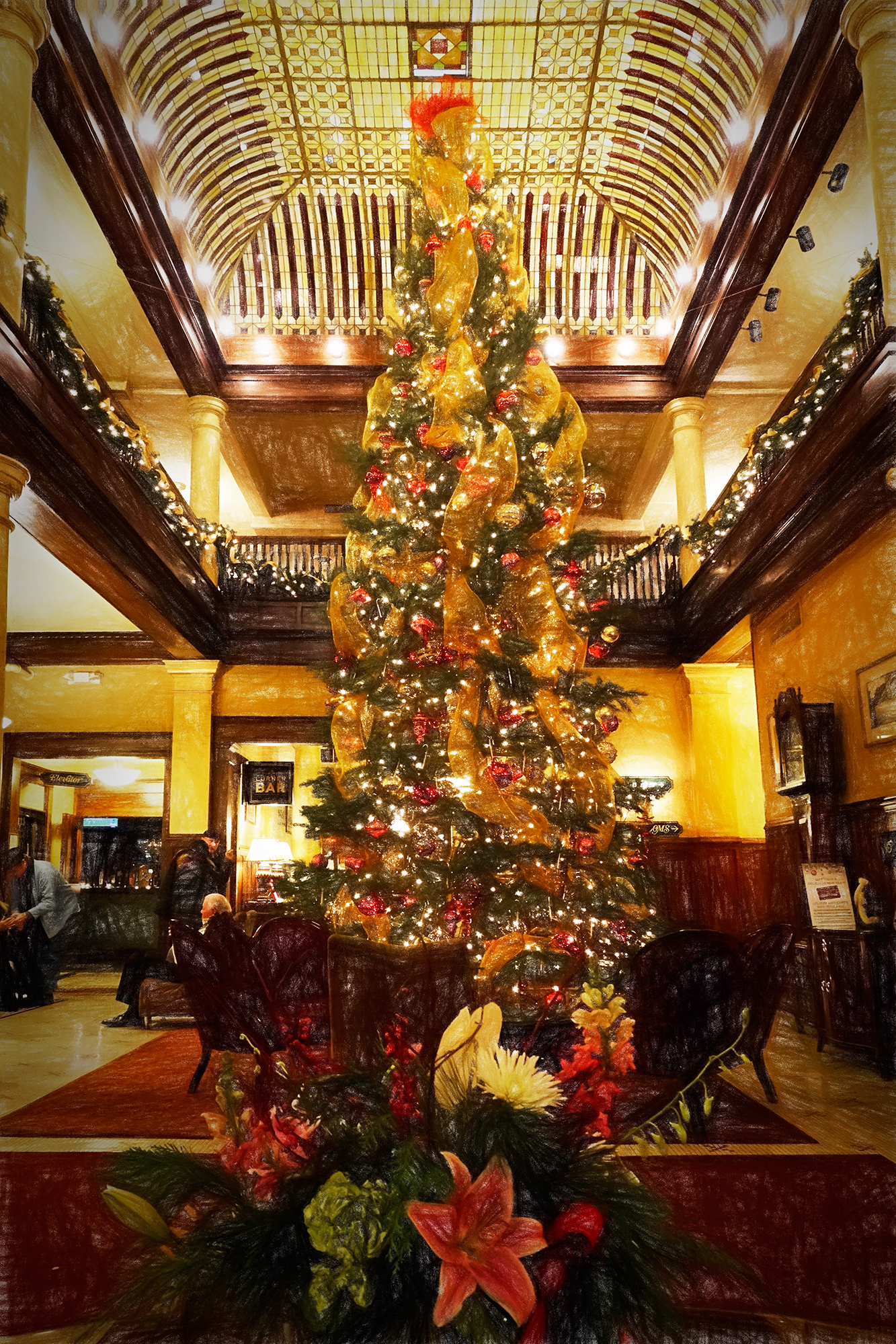 The Christmas Tree. Hotel Boulderado, Boulder, 2016
