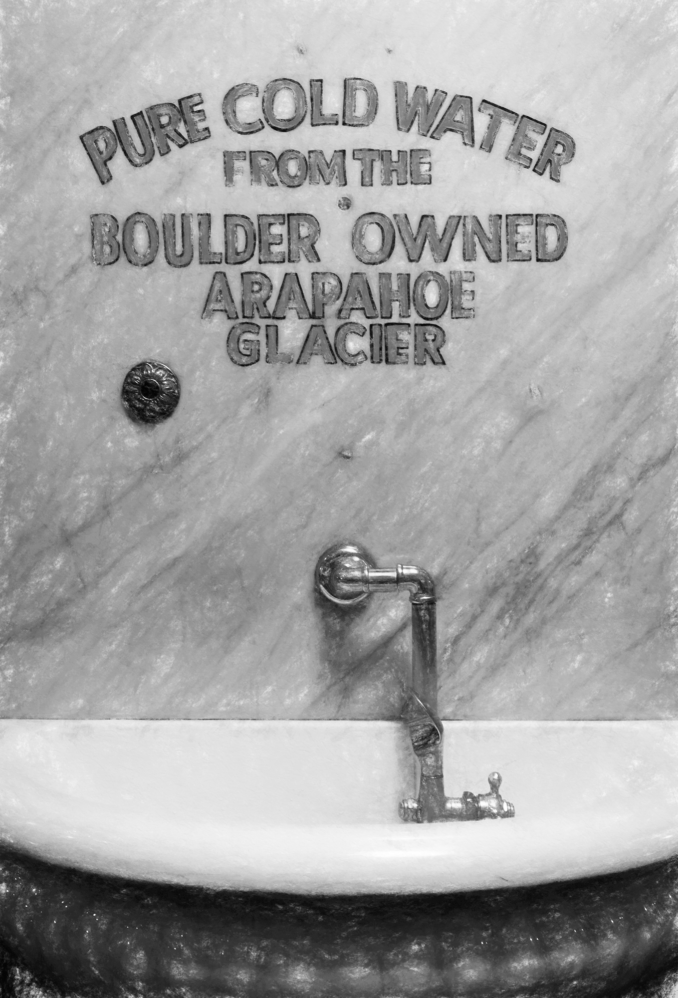Glacier Water. Hotel Boulderado, Boulder, Colorado, 2016