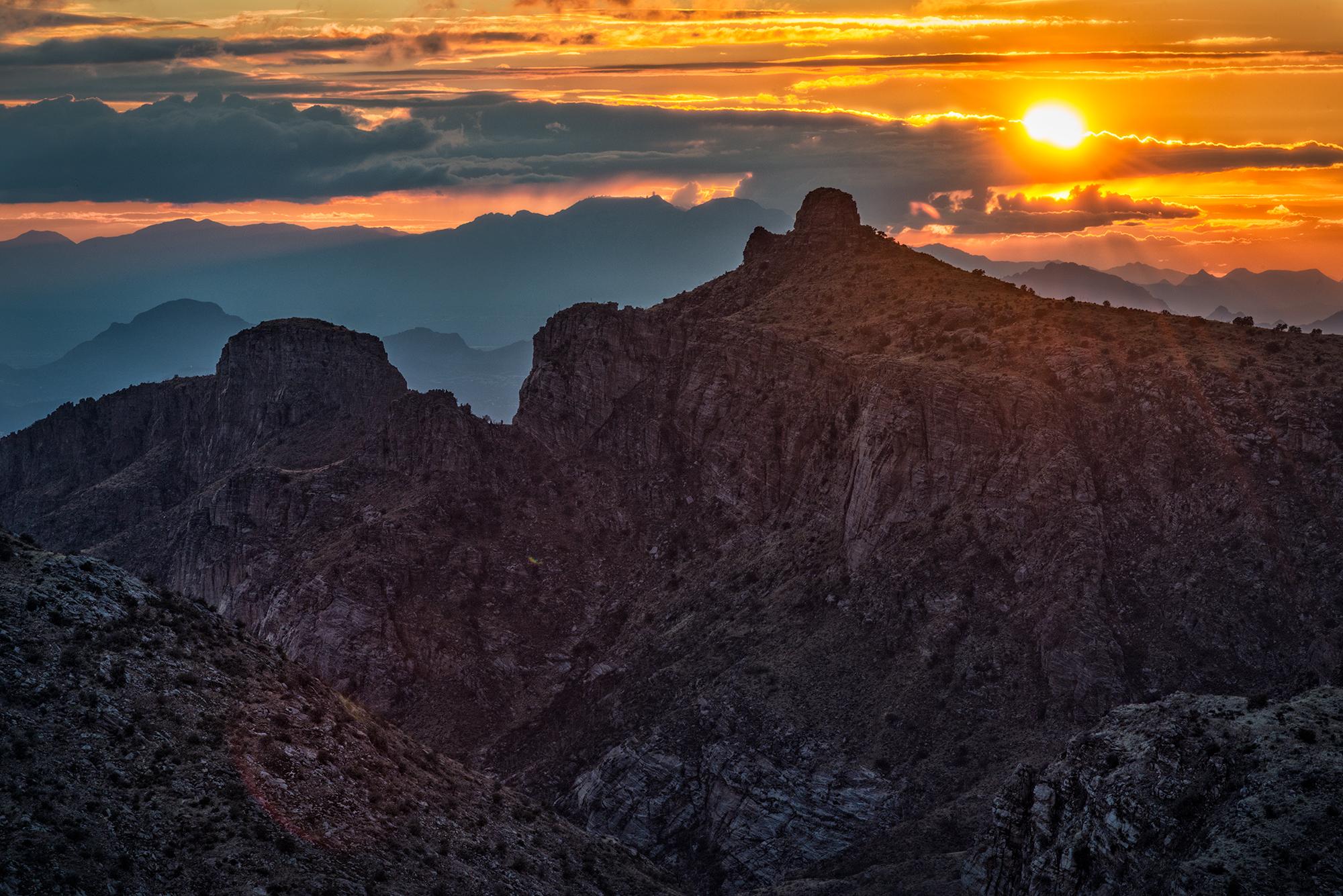 Thimble Peak Sunset, #4. Catalina Mountains, Tucson, Arizona, 2017