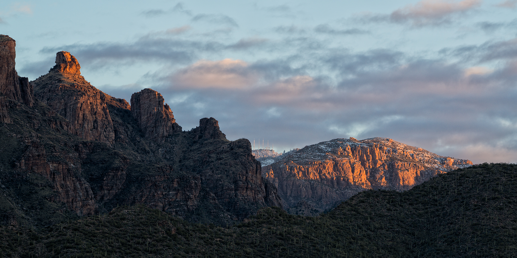 First Light on Thimble Peak. Tucson, Arizona, 2017