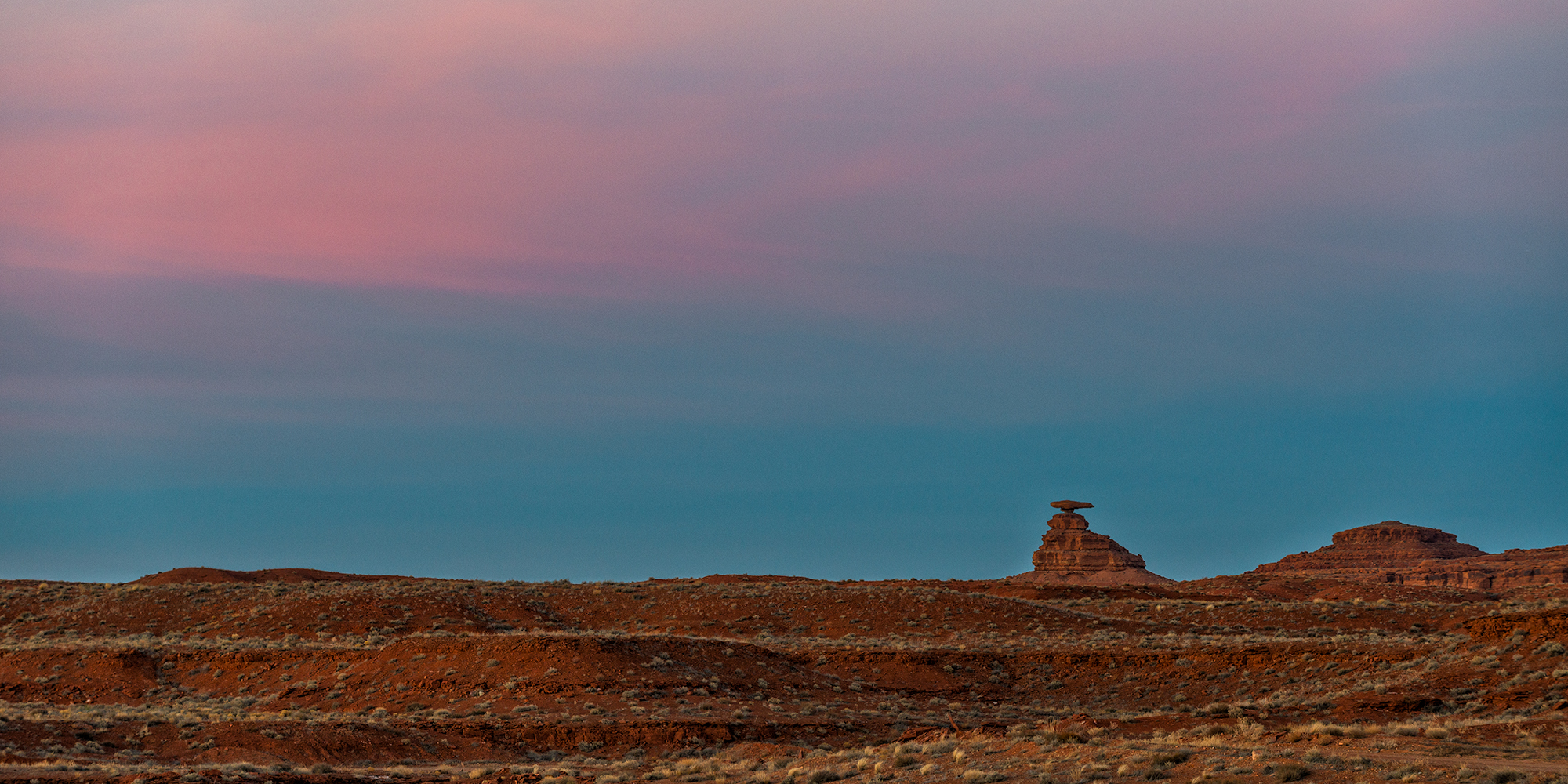The Mexican Hat at Sunset. Utah, 2017