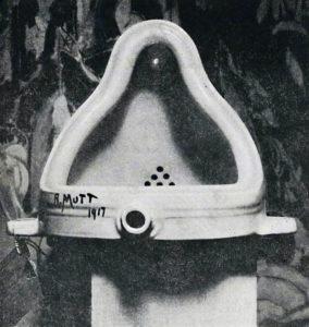 "Marcel Duchamp's ""Fountaine"". Photo by Alfred Stieglitz, 1917"