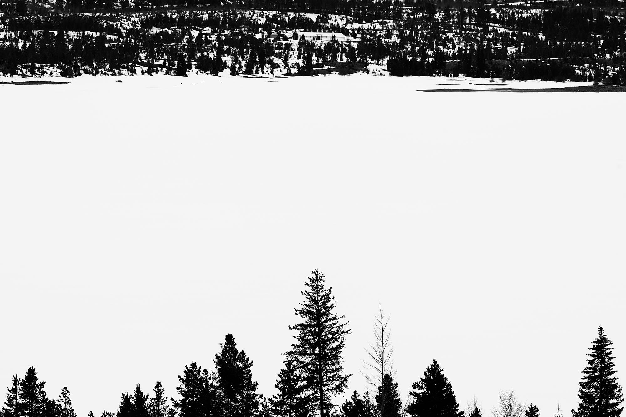 Dillon Lake, April Contrasts. Dillon, Colorado, 2017