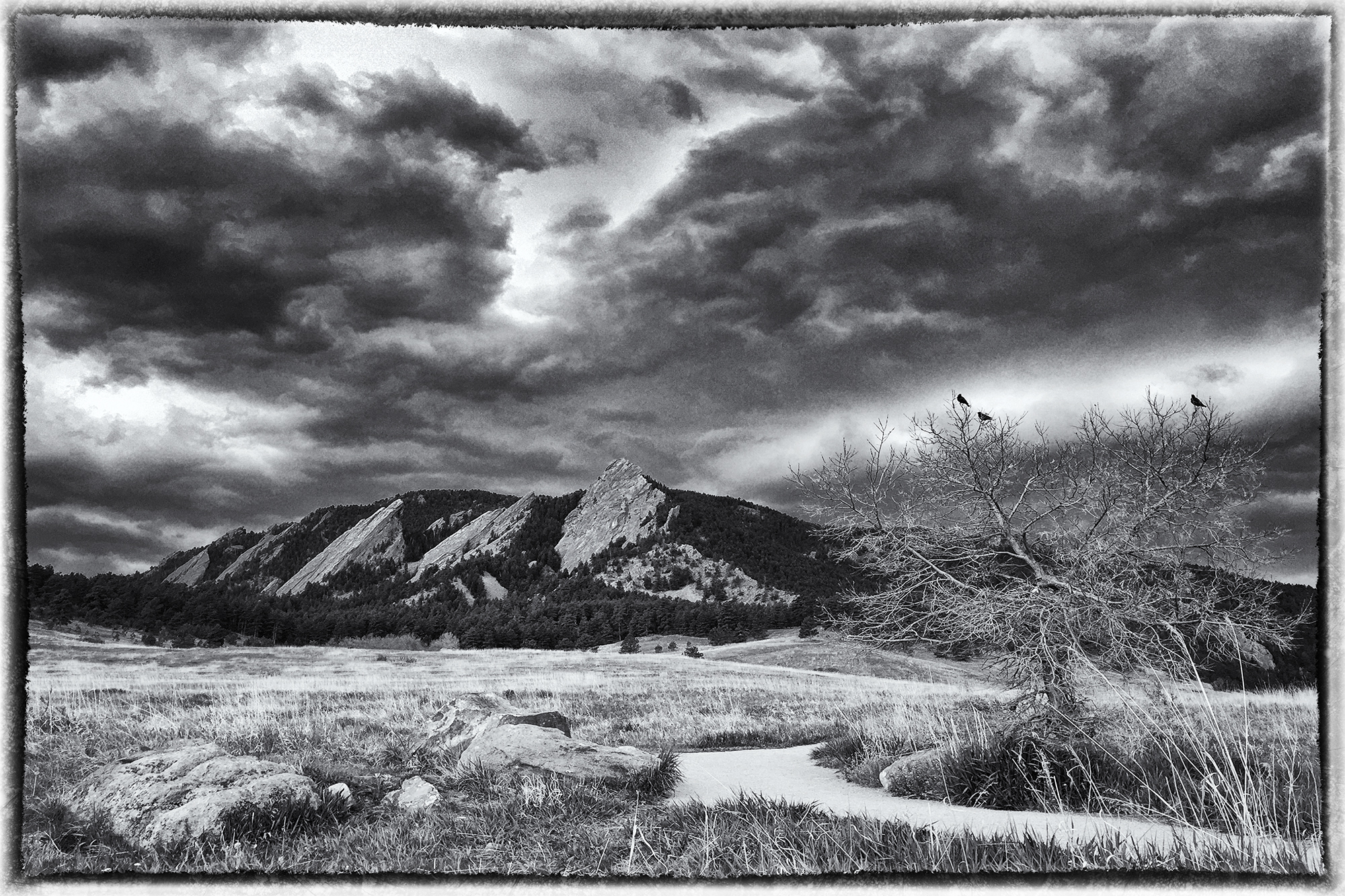 Ominous Flatirons. Boulder, Colorado, 2017