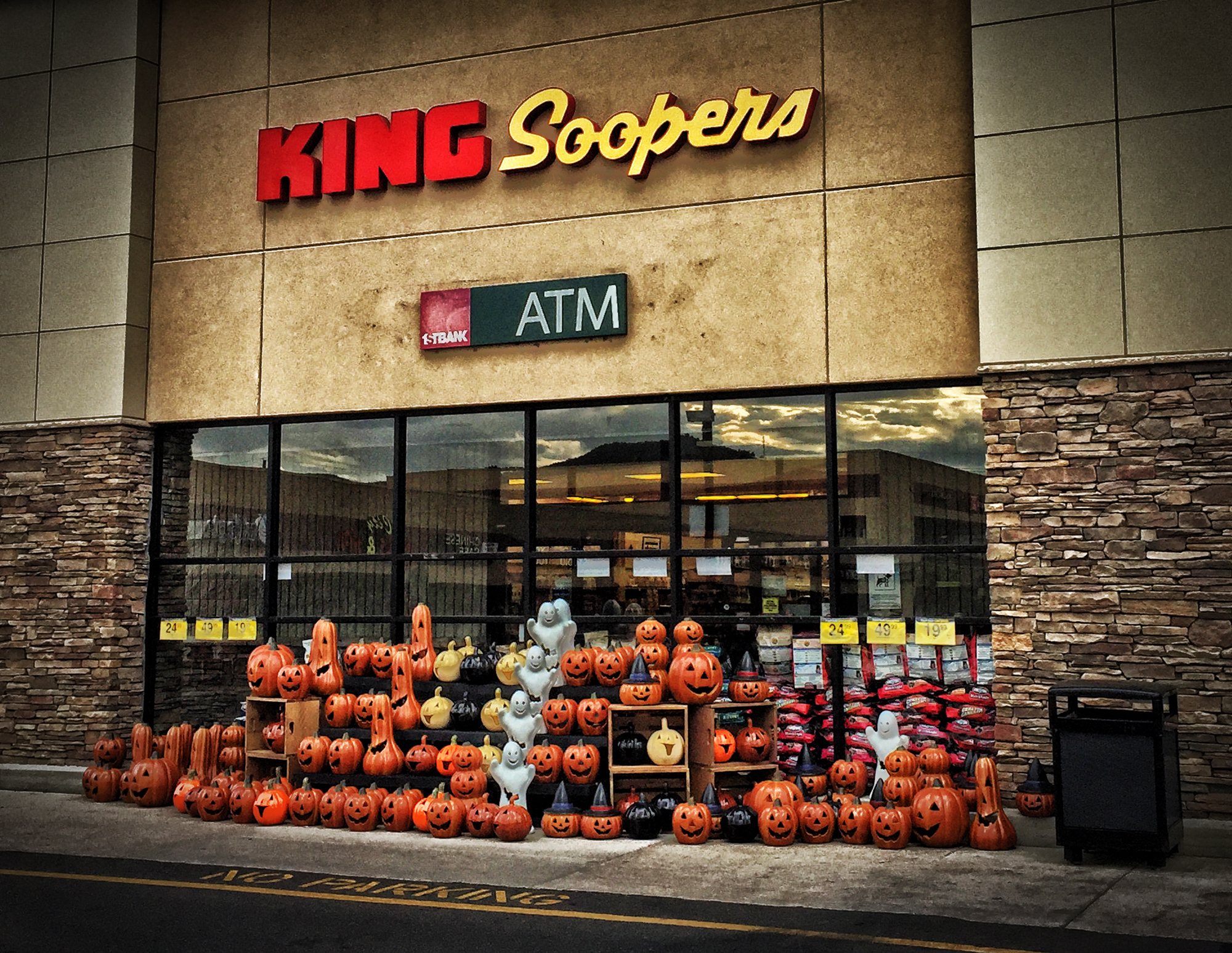 Porcelain Pumpkins at King Soopers. Boulder, Colorado, 2017