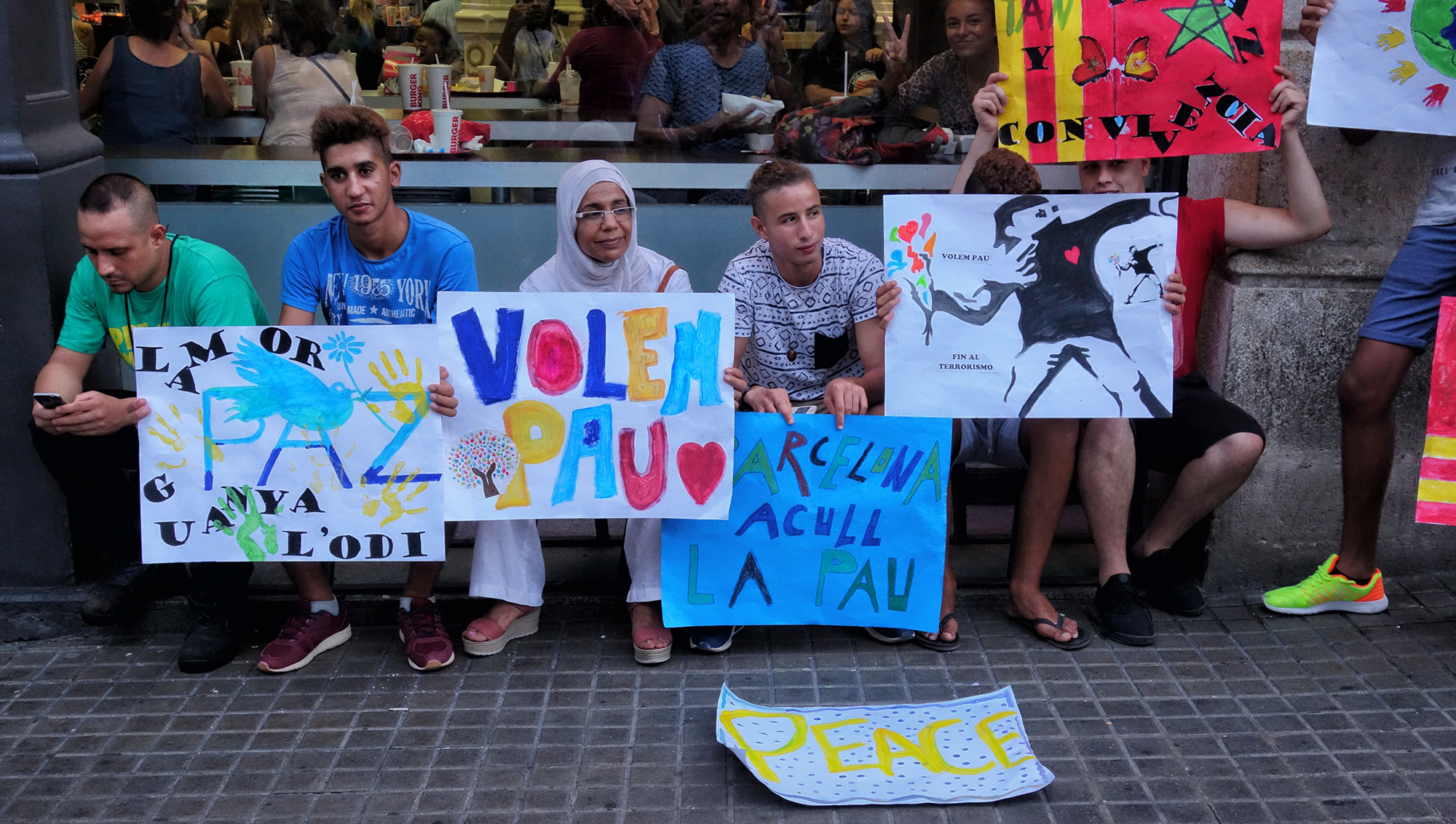 Protest for Peace, #7. Barcelona, 2017