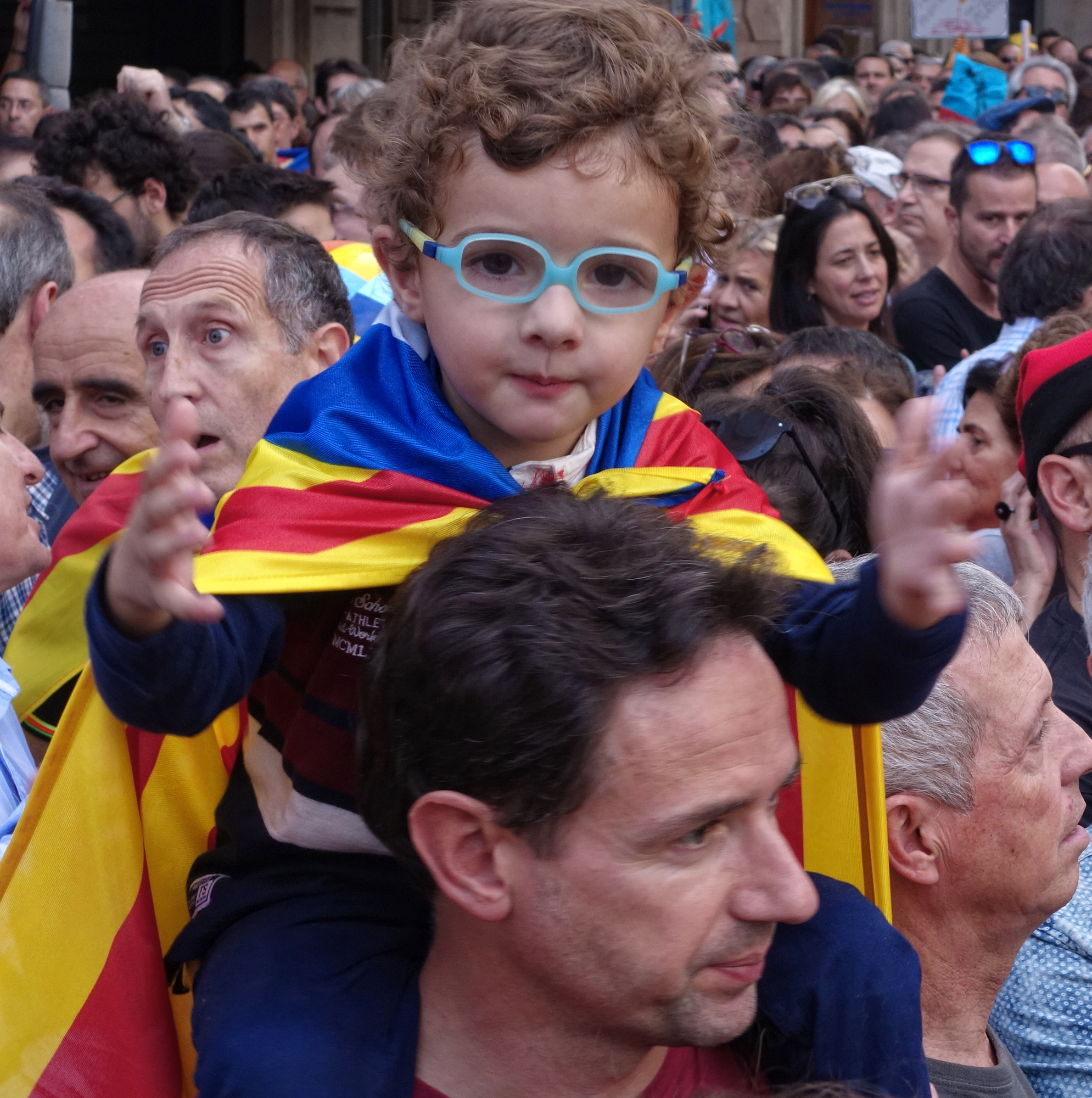Manifestacion, #2. Barcelona, Catalunya, Espanya, 2017