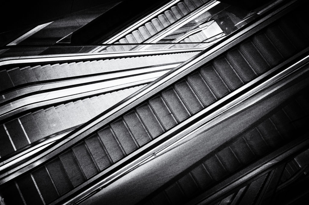 Escalators. Barcelona, 2017