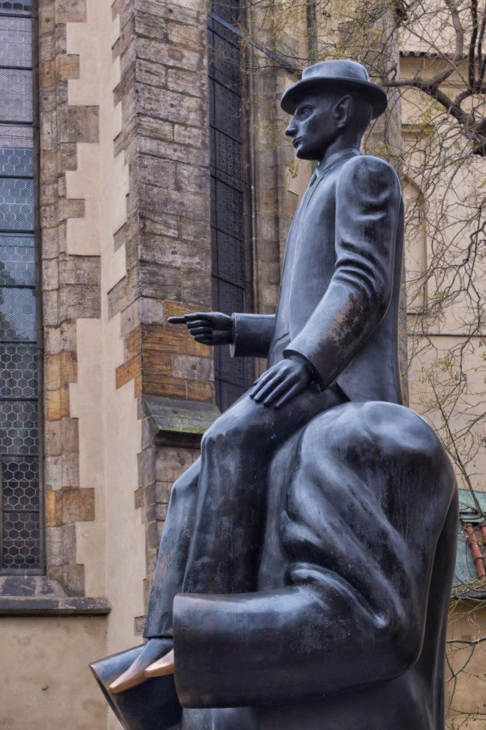 Prague, #40, Kafka Statue by Jaraslov Rona, Czech Republic, 2017